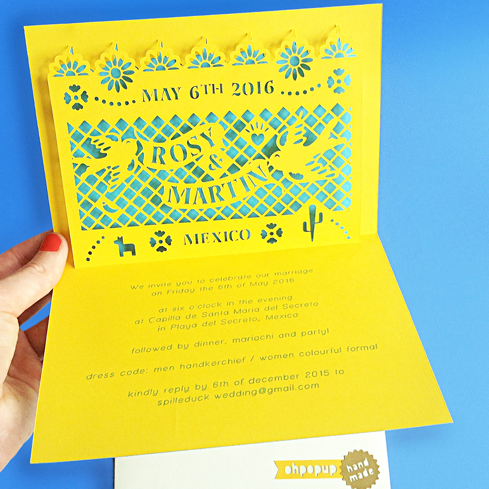 Colorful Mexican style - Wedding invitations that spark!