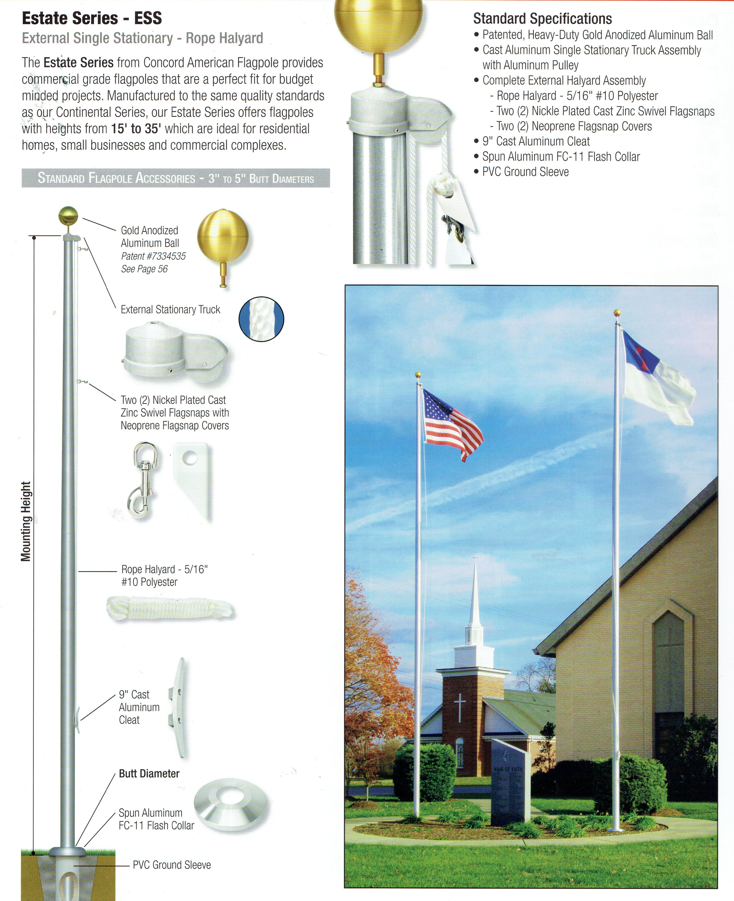 Pennant Shop - One of our most popular outdoor poles.For small businesses, churches and homes.Please call or write for more information.(504) 837 8420 Email: pennant700@yahoo.comSERVING THE NEW ORLEANS AREAFOR OVER 87 YEARS