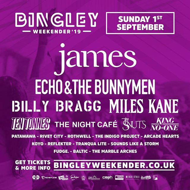 Bingley, the date is set, we play the main stage Sunday 1st September... We're giving away two pairs of day tickets so you can see us play.  Like, comment and share this post to be in with a chance, the winner will be announced tomorrow so you've got to be quick off the draw... - #themarblearches #bingleyweekender #bingley #festival #newbands #introducing #mainstage