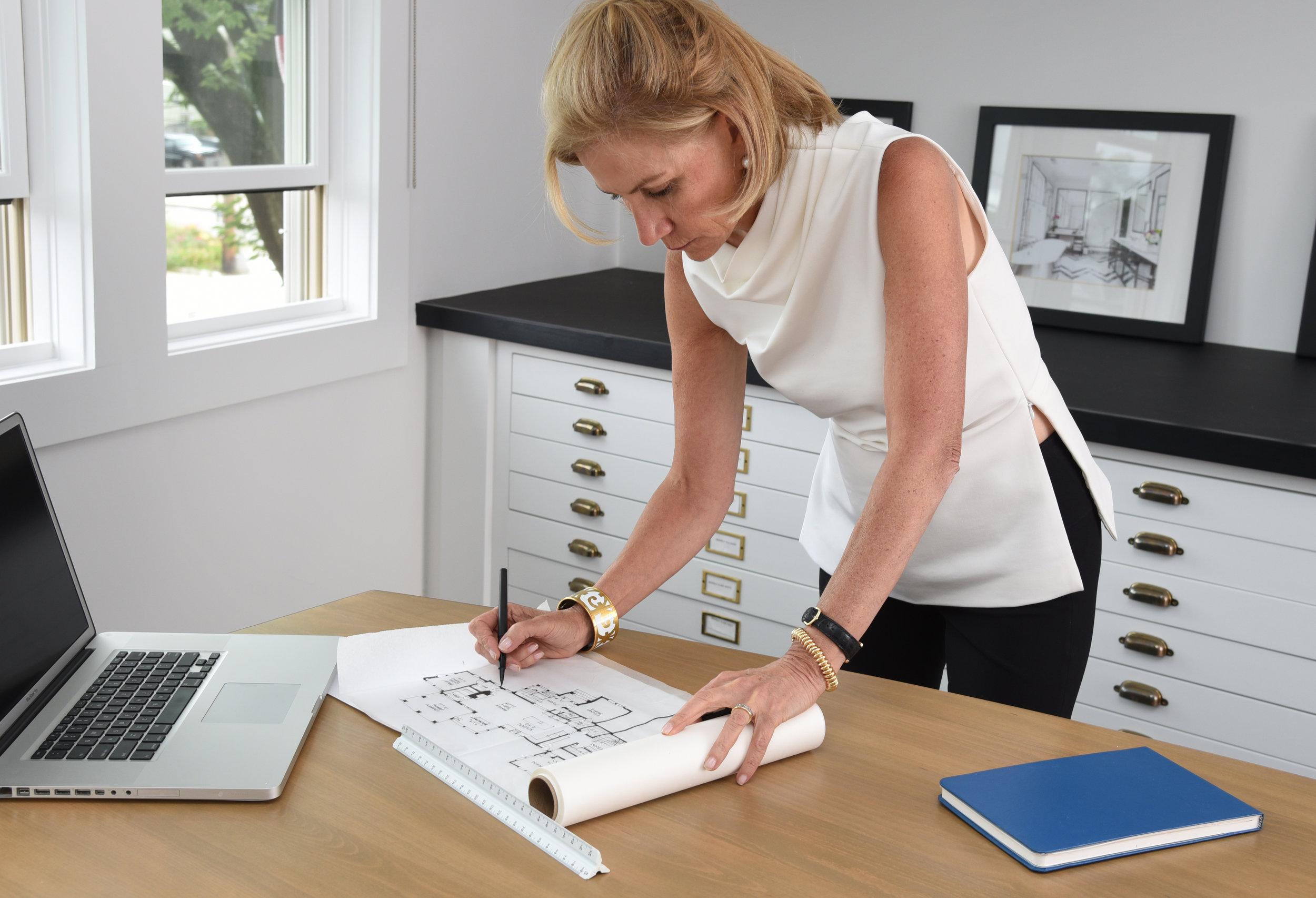 Susan Alisberg Sketching a Floor Plan