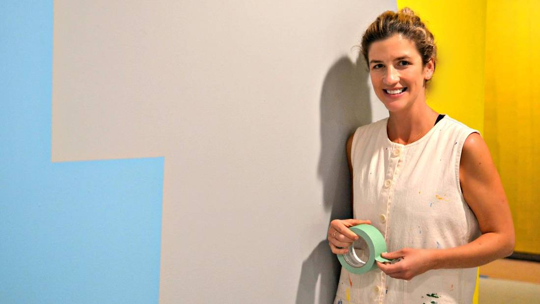 photo: Leah Rosenberg is seen at her exhibit, Everyday, A Colour, at Kenderdine Art Gallery in Saskatoon