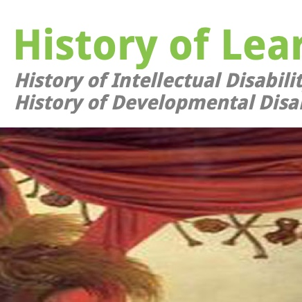 On the history of intellectual/developmental/learning disability