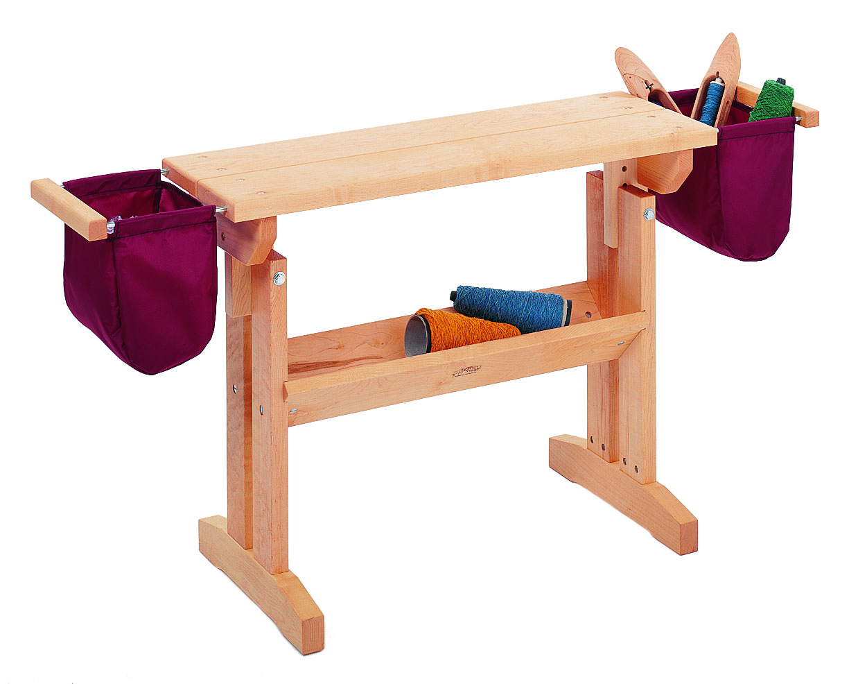 Loom Bench with Bags