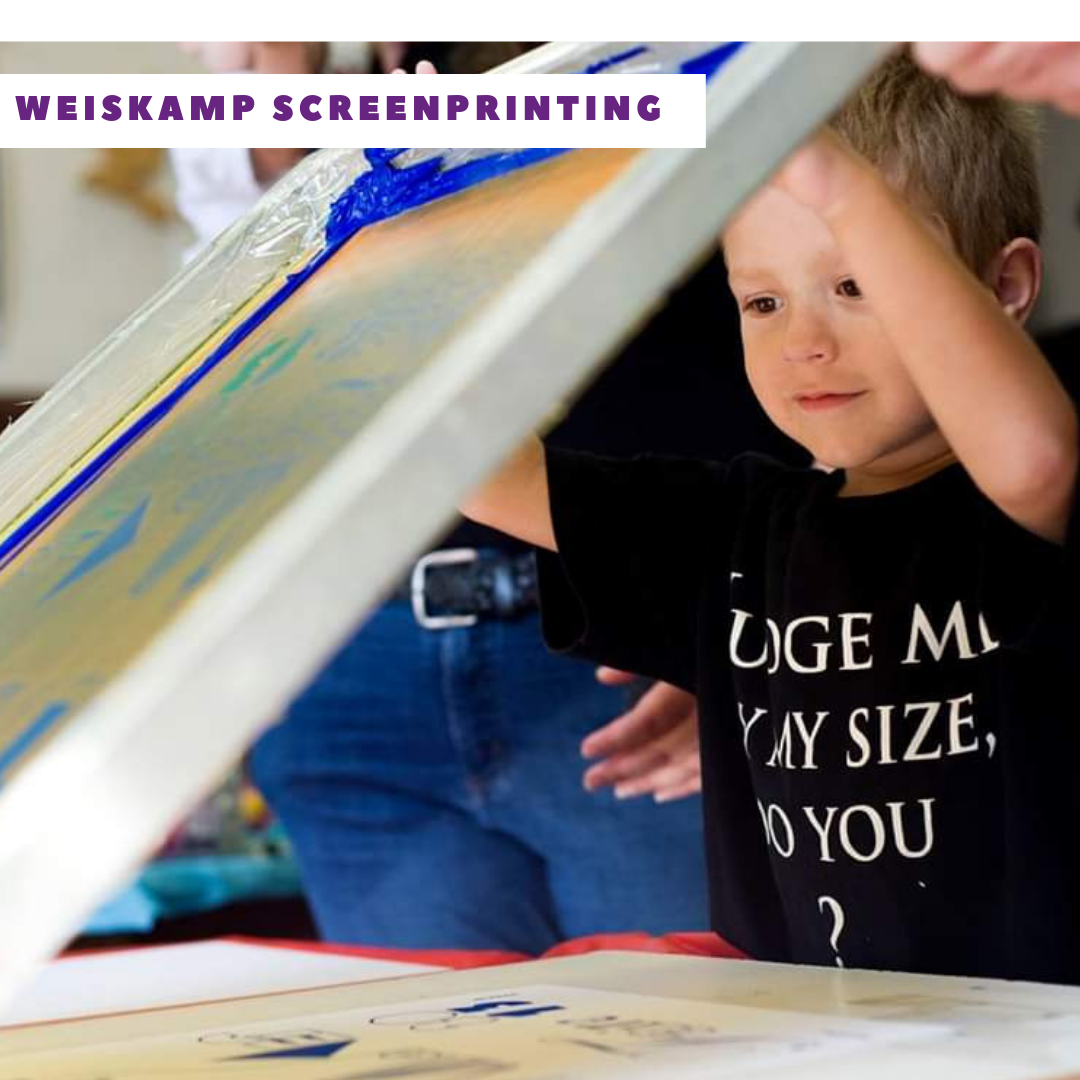 Weiskamp Screenprinting  is doing toke bags out of T-shirts recycled art.