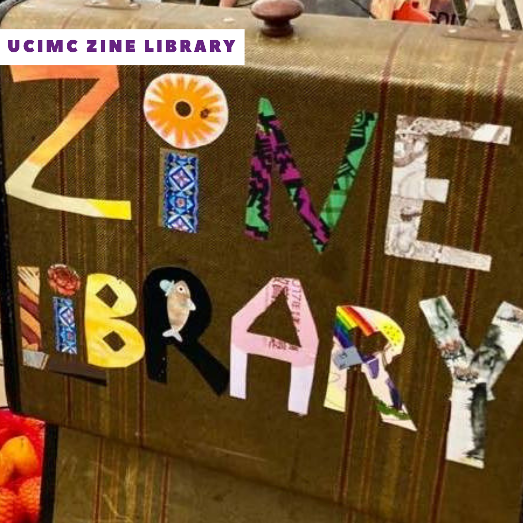 Make zines with the  Zine Librarians of the Urbana-Champaign Independent Media Center !