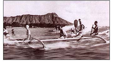 """""""The Hawaiian Canoe"""" by Tommy Holmes.  Book contains numerous specially commissioned diagrams and illustrations, along with a wealth of photographs will delight anyone with an interest in the maritime history of Hawaii."""