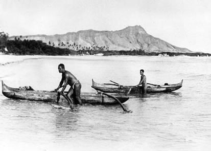 Traditional Hawaiian Outrigger Paddling Wa'a
