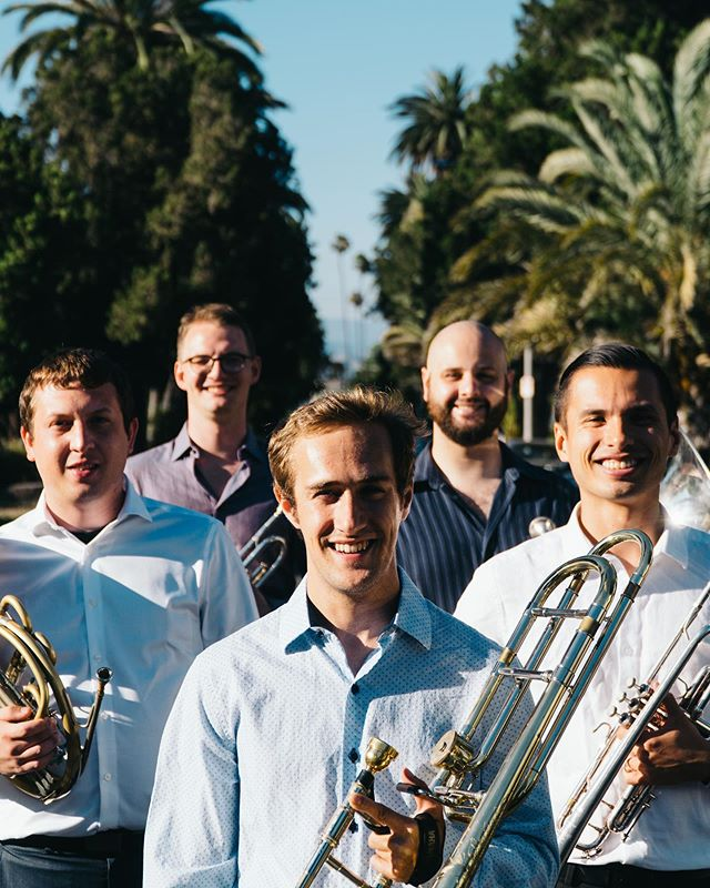 New group photo who dis? 👀  We're going to Europe tomorrow!!! We could not be more excited to take our music abroad and visit @svend_lykkegaard's homeland! If you like the content we're creating, please consider supporting our ongoing Gofundme campaign! Link in the bio. And stay tuned for more #twobuttonbrass 🎺 . . . . #twobuttonbrass #trumpet #trumpetplayer #classicaltrumpet #trumpetist #trumpeter #trumpetlove #brass #frenchhorn #trombone #tuba #brassquintet #chambermusic #losangeles #losangelesmusic #california #livemusic #musicians #freelancemusicians #usc #uscthornton #schoolofmusic #musicschool #band #orchestra #classicalmusician #art #music