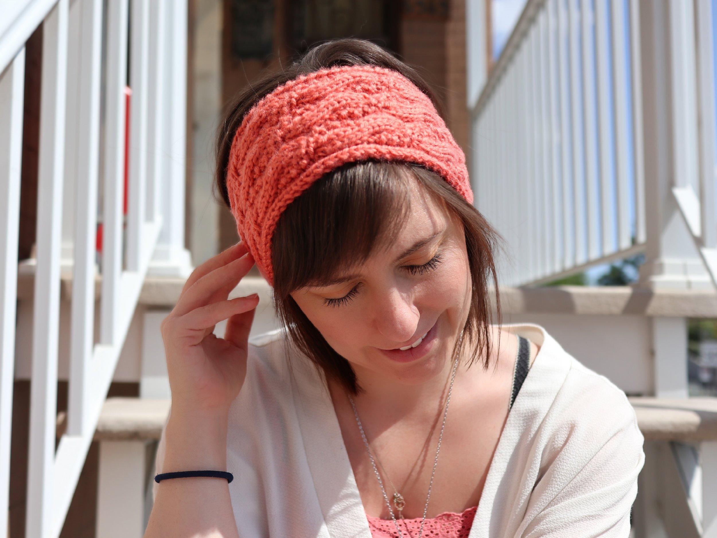 FREE PATTERN - Seed Stitch Cable Headband - Ravin Sekai Designs8