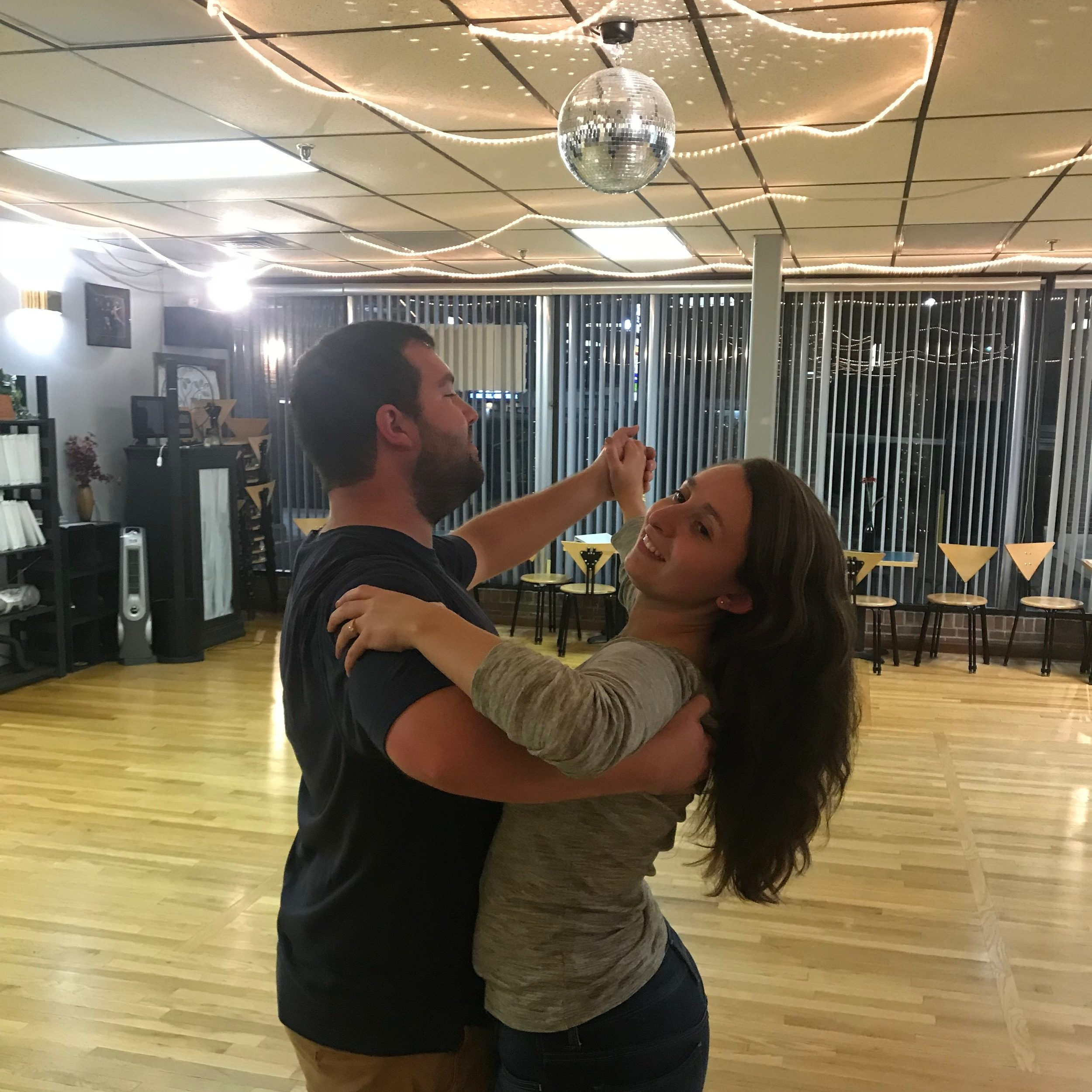 Private Lessons - -Private lessons, for beginners or advanced dancers, are essential for getting the most out of your dancing! Either alone or with a partner, you will be working one on one with a trained instructor who will completely tailor your lesson to meet your dance goals. All while being taught step by step at your own pace! We will focus on not only learning new moves, but improving your timing, lead and following skills, technique, posture, dance hold, and valuable fine tuning, which you can't get in a group setting! Private lessons are also the way to go if you want any specific choreography like a wedding routine or competition routine! Private lessons are 45 minutes long and are scheduled based upon your availability anytime Monday-Friday 1pm-10pm and Saturdays by appointment!