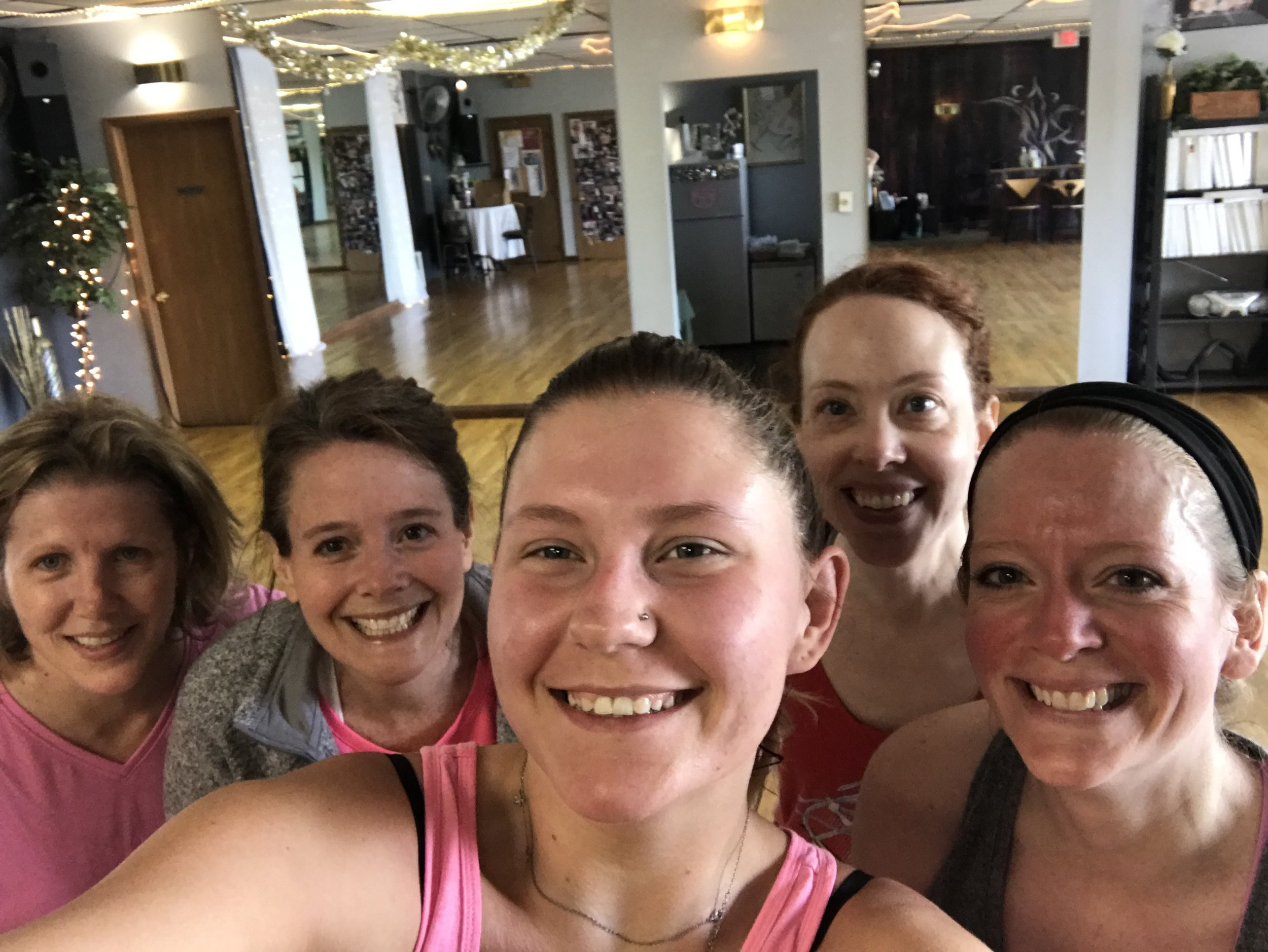 """Sara & Beth, - -'This most fun I've had working out! Great music, challenging routines, and a friendly environment - this is a class that I actually miss if I skip a week. If you love dancing and having a blast while exercising, definitely give it a try!""""-""""If you like to smile & sweat come to this class! Everyone makes you feel very welcome and is supportive."""""""