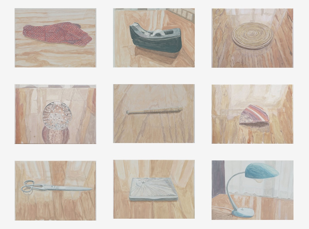 I paint the objects left on my father's desk after his death. Each object becomes a mediation on memory and on how we process grief at its daily level.  Dead Dad Desk Paintings, acrylic on canvas over board, 16 x 22-1/4 inches, 2017/2018.   How to Tell the Truth and Painting , Inman Gallery, 2018.