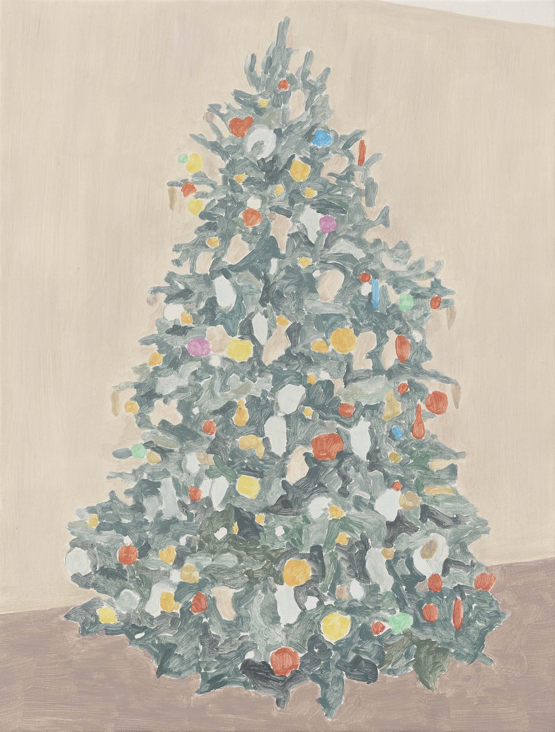 Xmas Tree (majestic), acrylic on canvas, 32 x 24.25 inches, 2015.