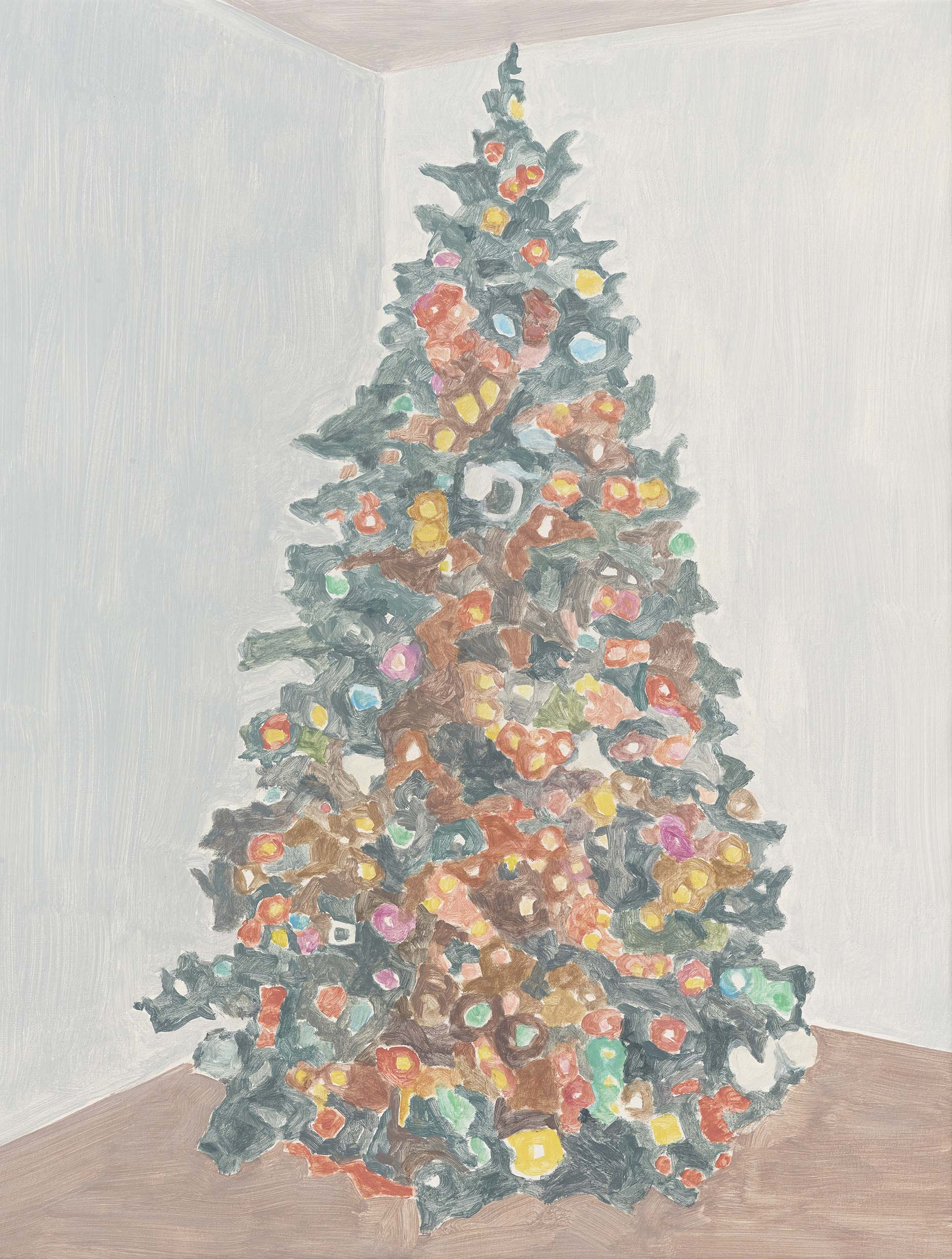 Xmas Tree (lights), acrylic on canvas, 32 x 24.25 inches, 2015.