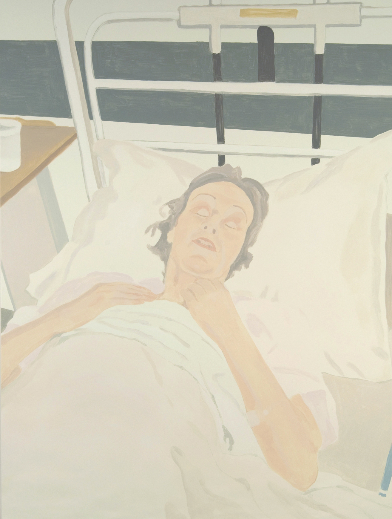 Woman in Hospital, acrylic on canvas, 96 x 72 inches, 2007.