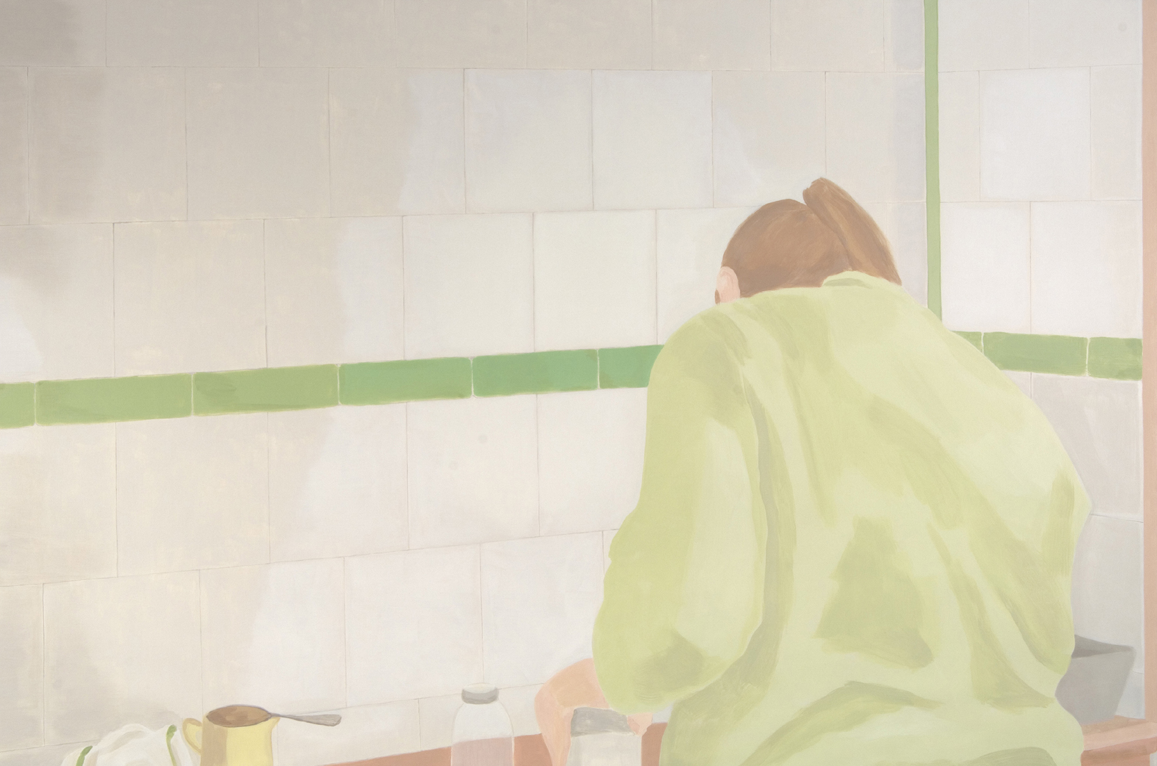 Woman in Kitchen, acrylic on canvas, 86 x 130 inches, 2006.