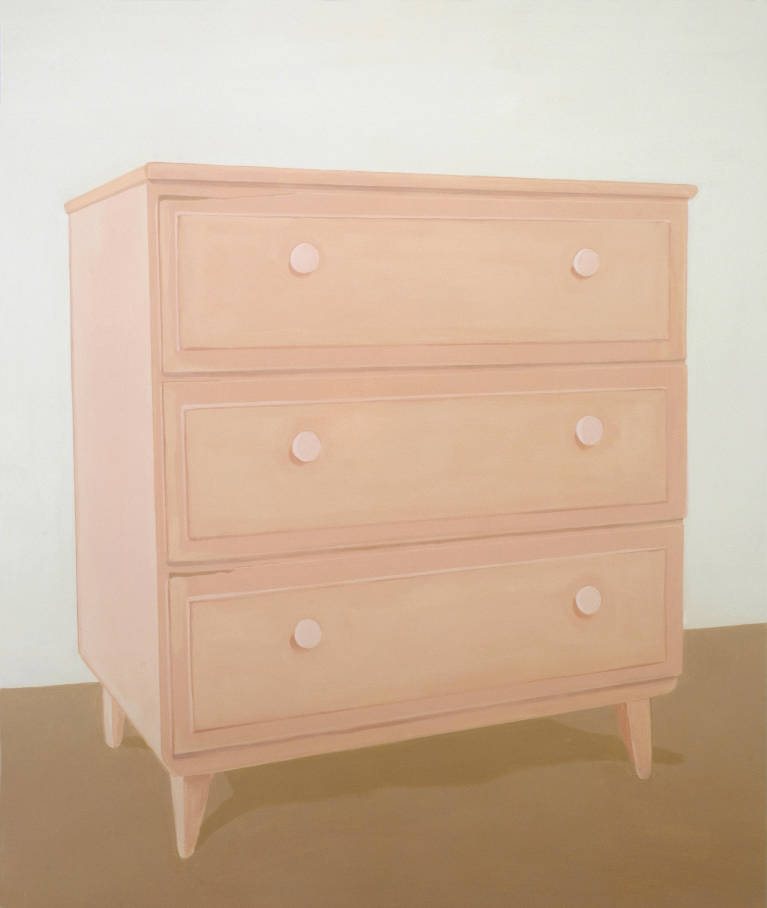 Pink Dresser, acrylic on canvas, 65 x 55 inches, 2006.