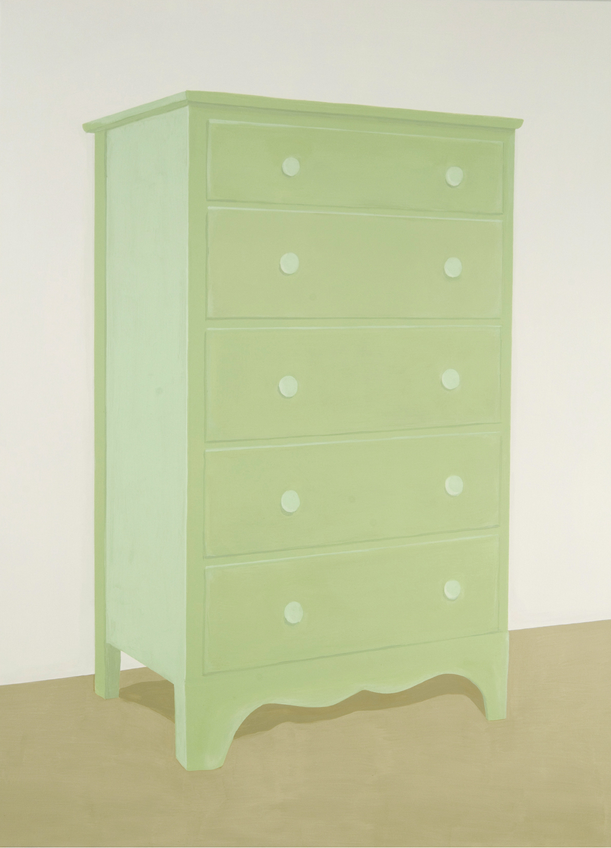 Green Dresser, acrylic on canvas, 79 x 58 inches, 2006.