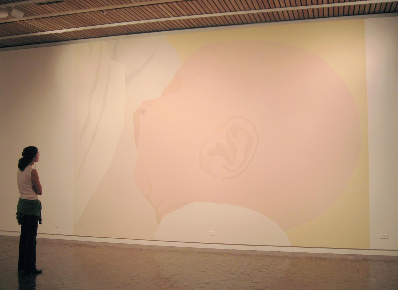 Baby 1/San Antonio, UTSA Wallpainting, latex paint on wall, 13 x 17 feet, 2005.