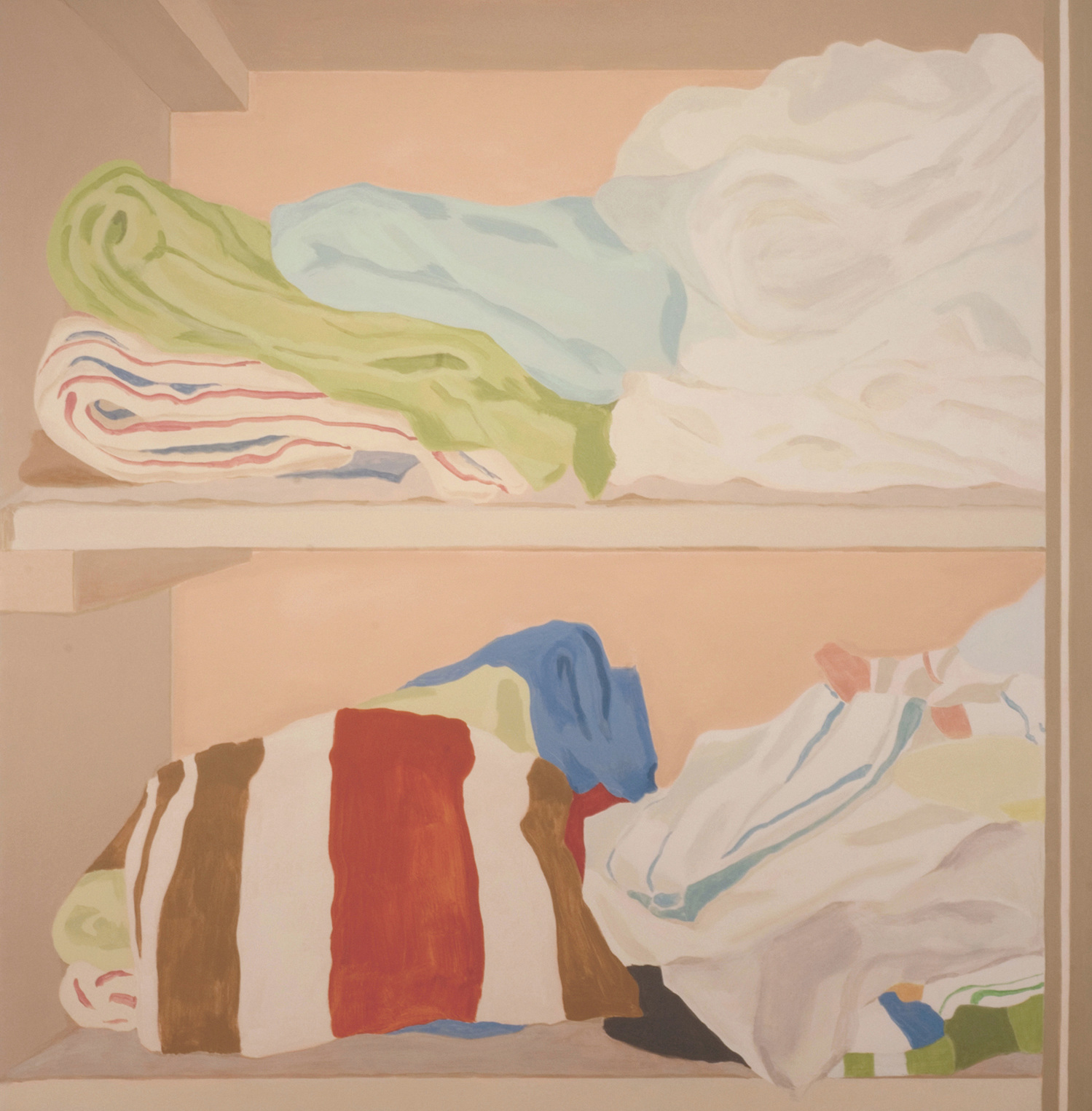 Linen Closet, acrylic on canvas, 67 x 66 inches, 2006.