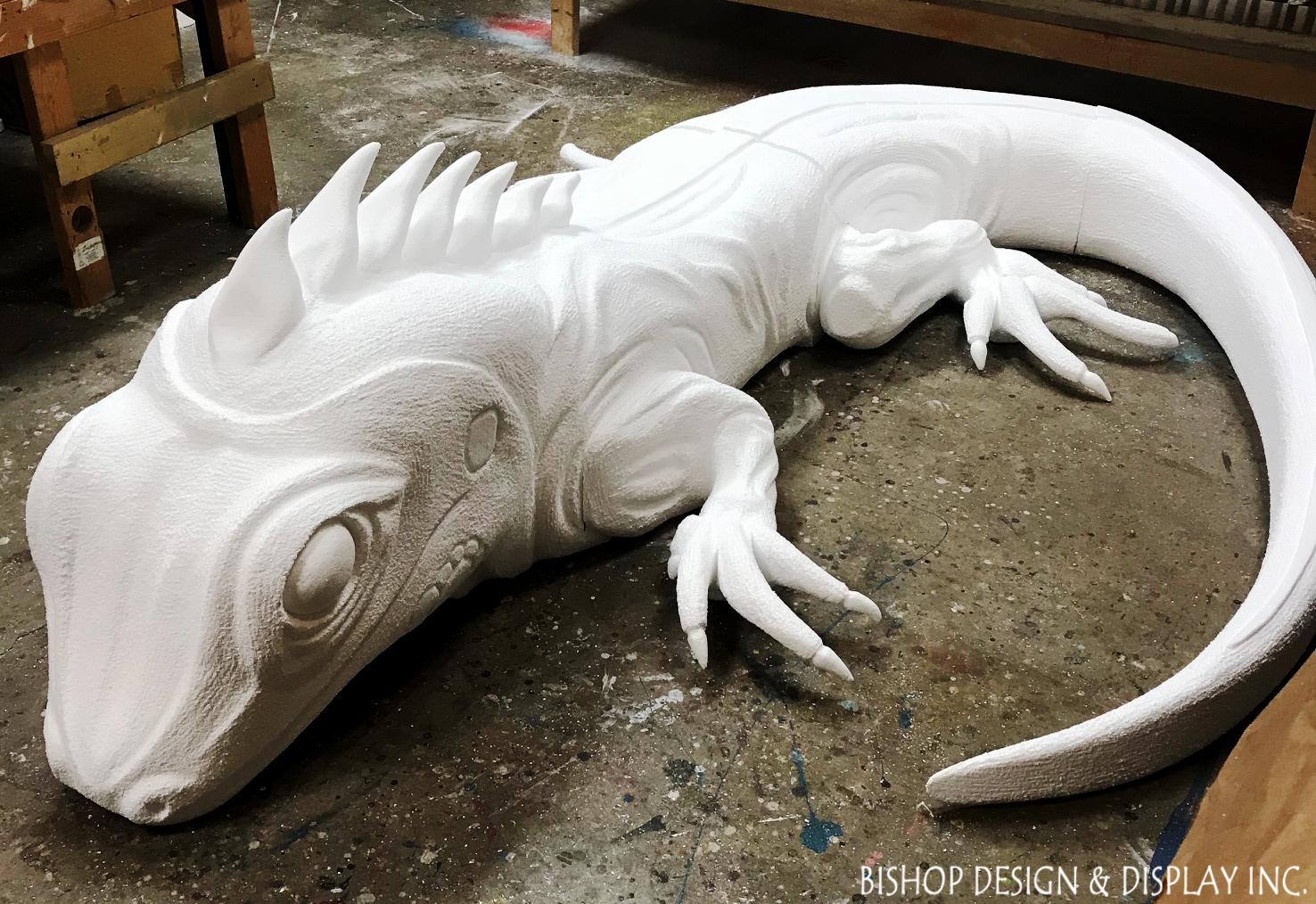 Iguana Sculpture - In Process