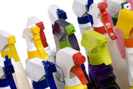 Pump nozzles are cool and useful, but usually not recyclable. The bottles, however, are. Time for a fly-spray bottle break up.