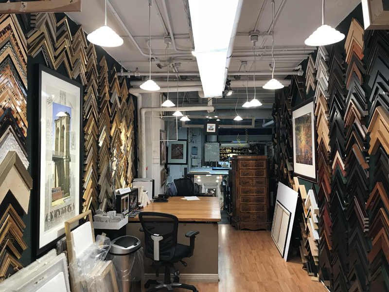 Soho Picture Framing shop interior