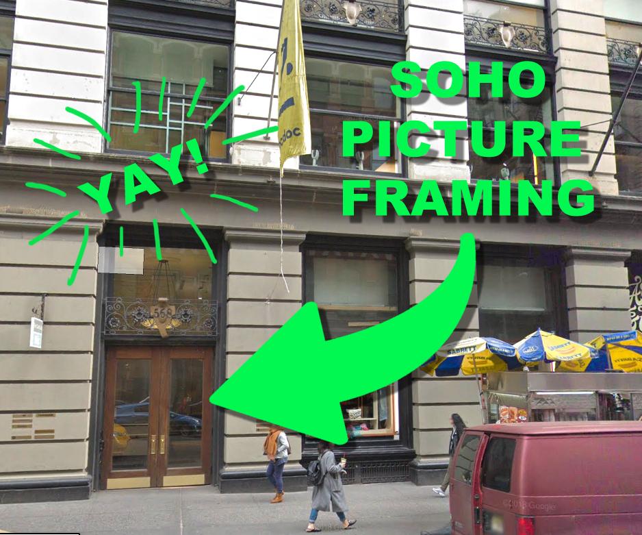 Soho Picture Framing location - 568 Broadway, New York, NY 10012