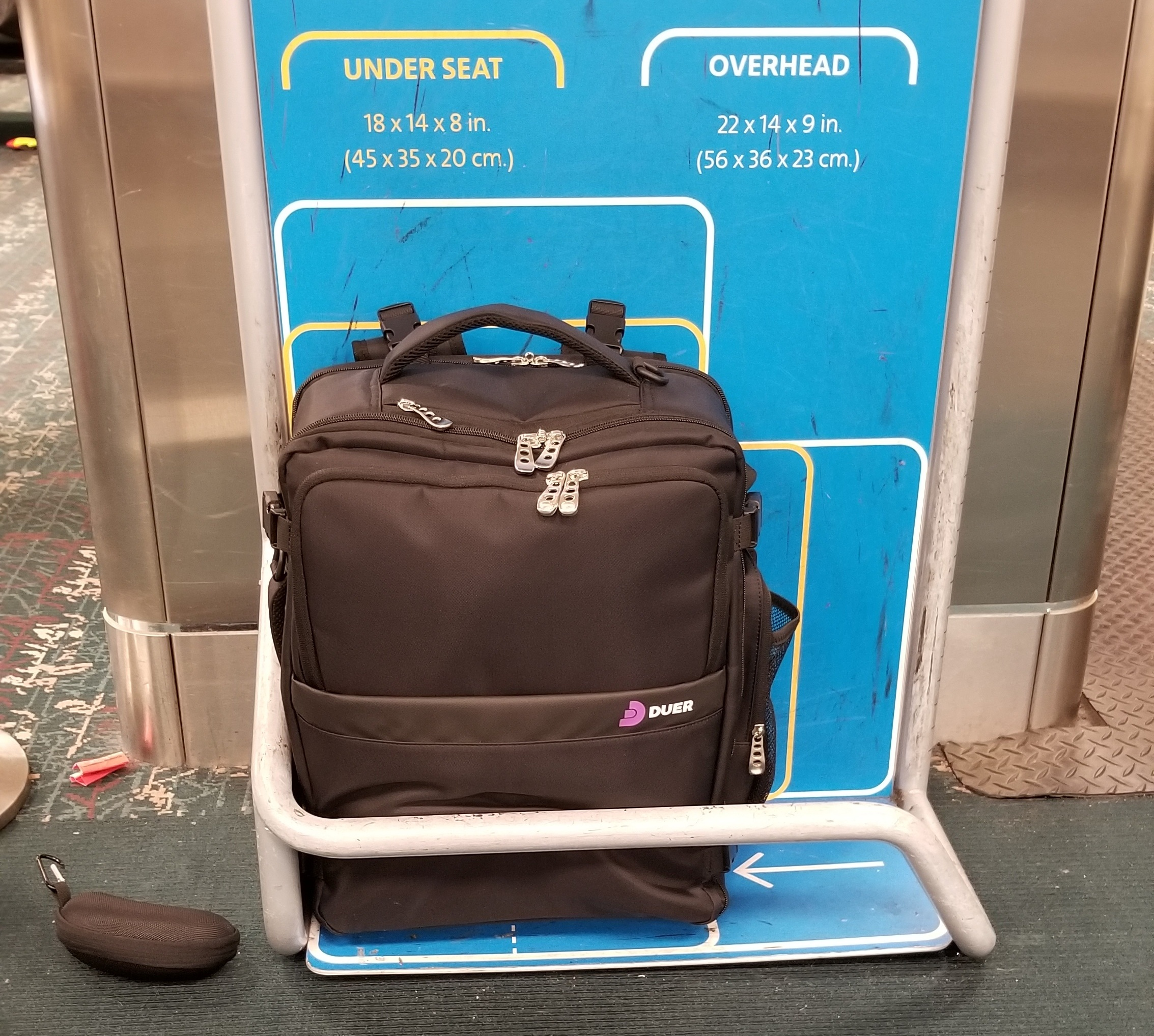 """Under-SeatSizing - Built as a 18"""" x 14"""" x 8"""" bag, the Freedom 9 fits a wide variety of airline size restrictions, making it the ideal choice for today's size restricted air travel."""