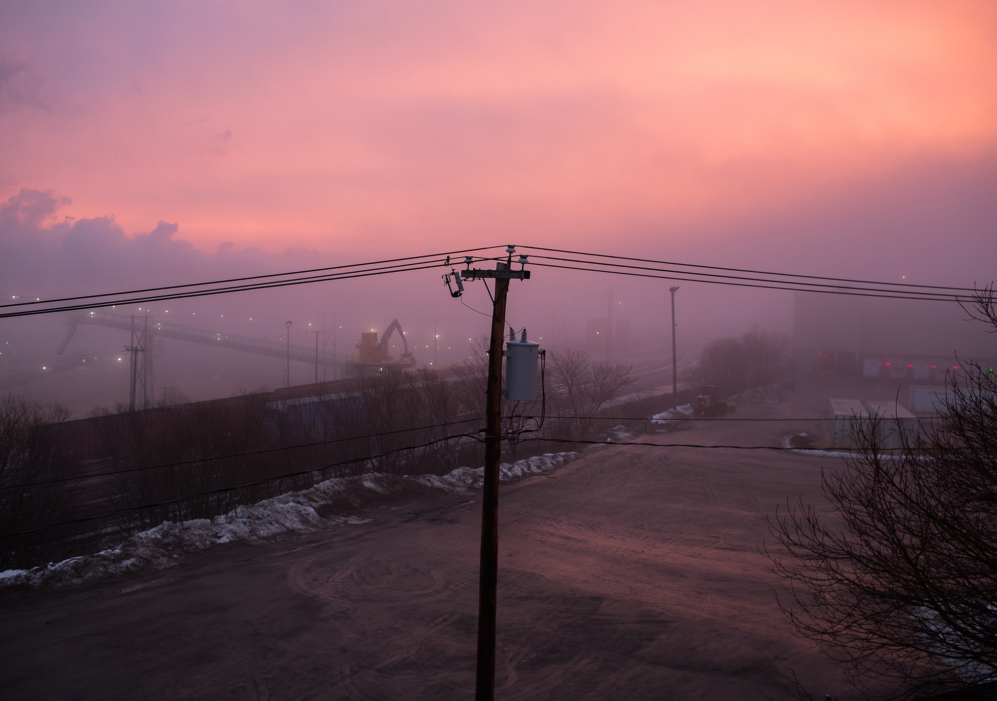 """""""Morning Behind the Pulp and Paper Mill"""", Digital Photograph, 2016"""