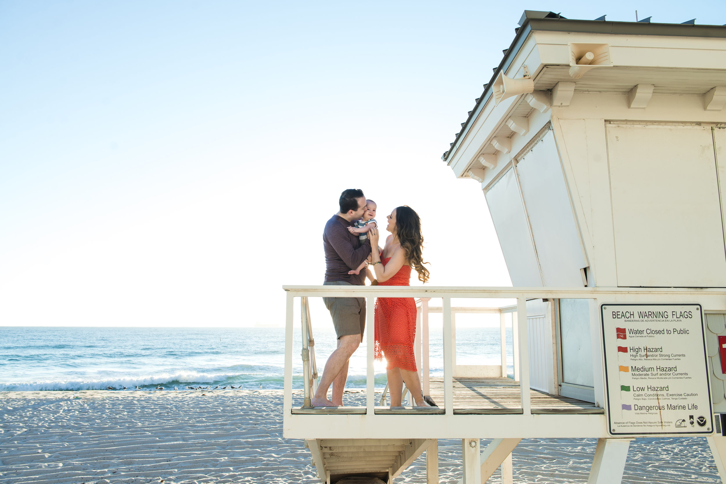Ft Lauderdale Beach Family Photographer - Lifeguard Stand Family of 3