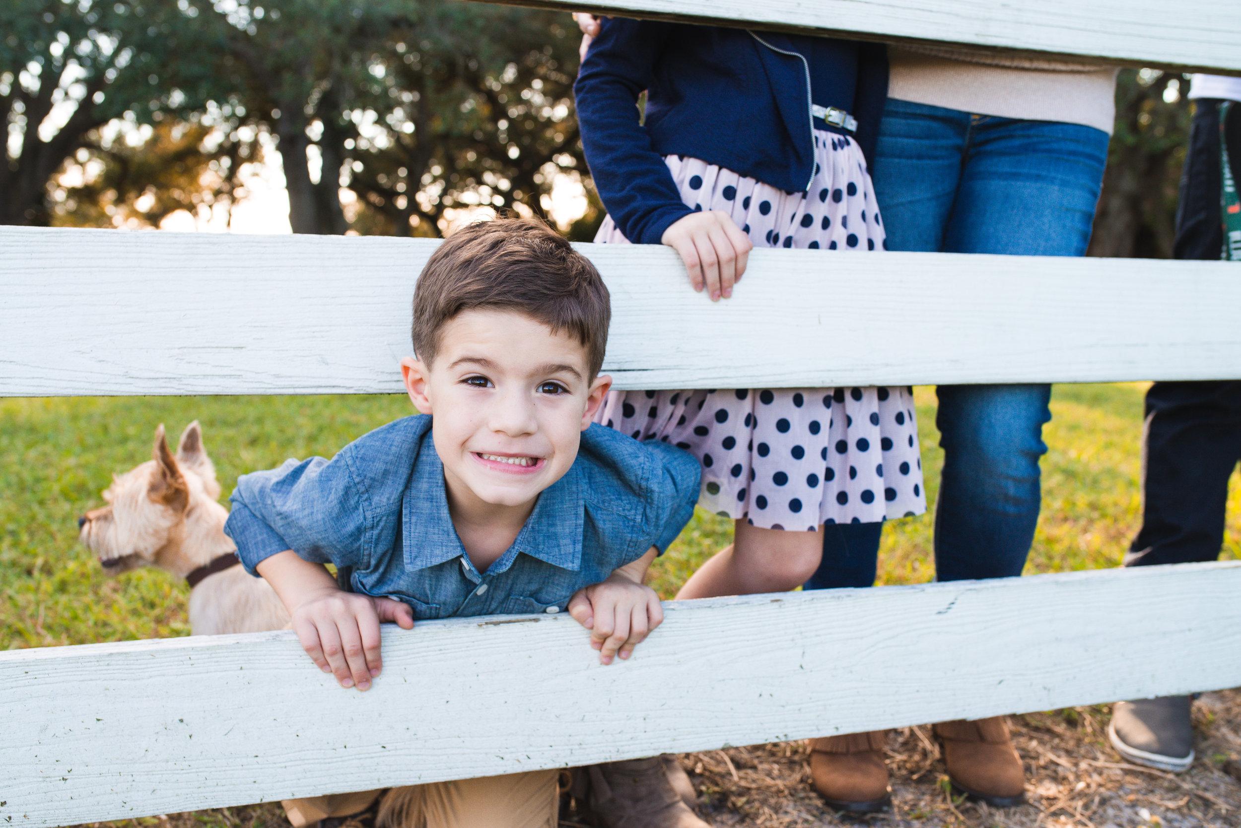 Funny Face Boy | Davie Family Photographer