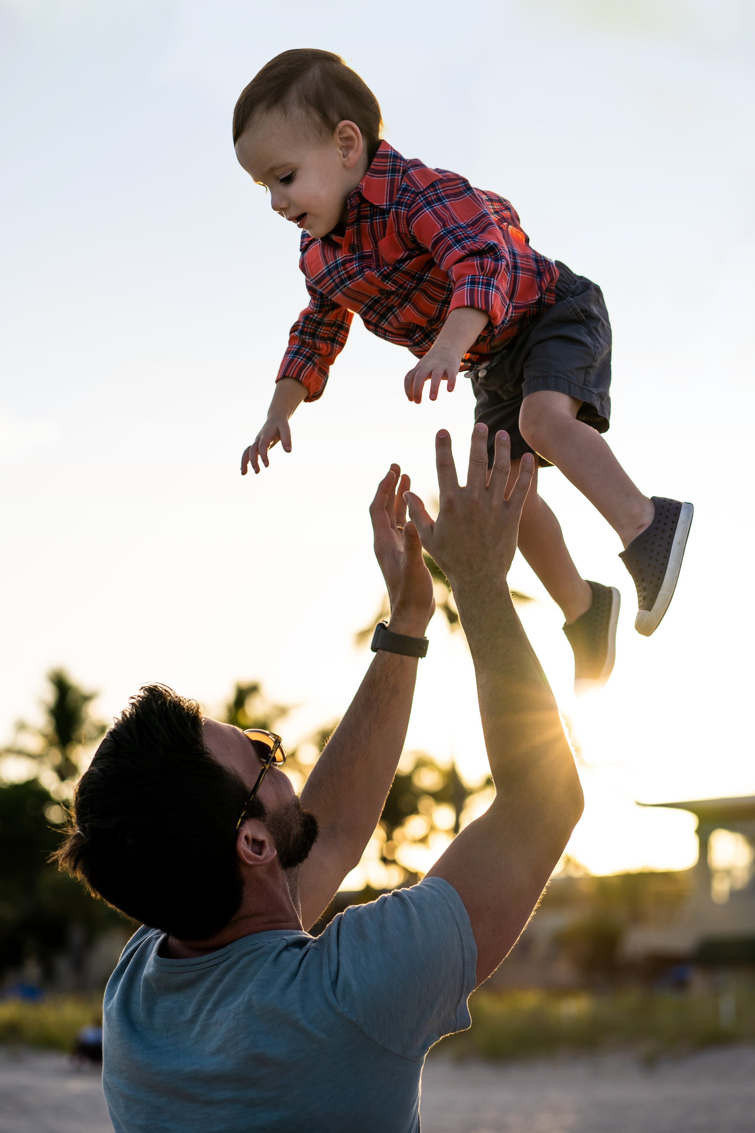 Father Throws Son in Air - Ft Lauderdale Family Photographer