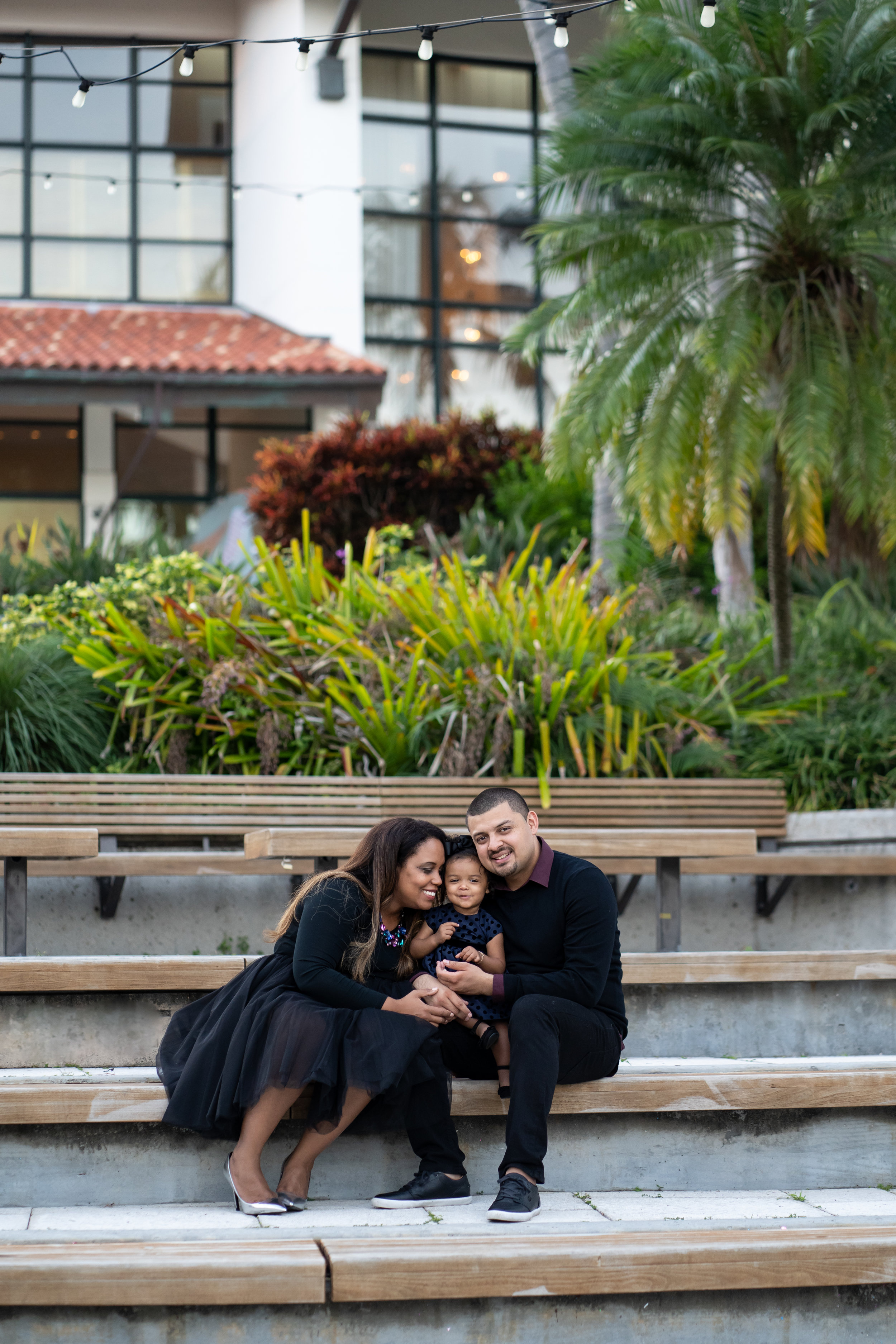 Family of 3 Esplanade Park - Fort Lauderdale Photographer
