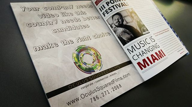 Our ad in the fall issue of Midtown Miami Magazine. By now America made its choice but you can still choose to make us your choice for video. Contact us today. #miamivideoproduction #midtownmiami #events #commercials #corporate