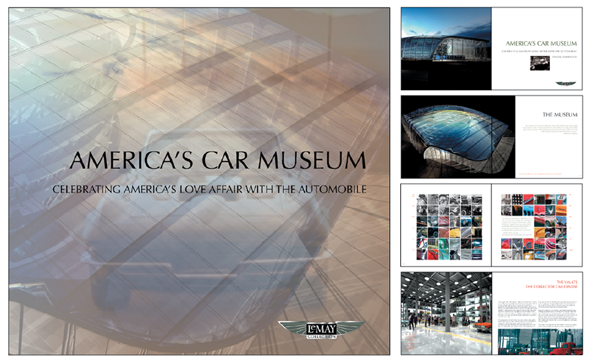 America's Car Museum - Waking State Design designed, edited, and took much of the photography for this 60 page book, showcasing the museum that now houses one of the largest car collections in the U.S.