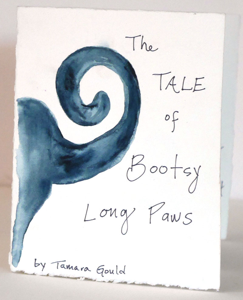 The Tale of Bootsy Long Paws - An original story, a hand-painted accordion book. The story of a very small dog who travels the world.