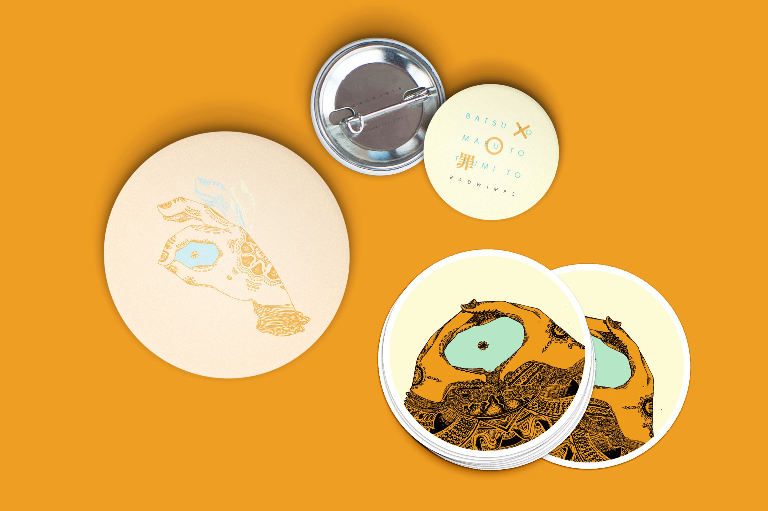 Pin badges and stickers