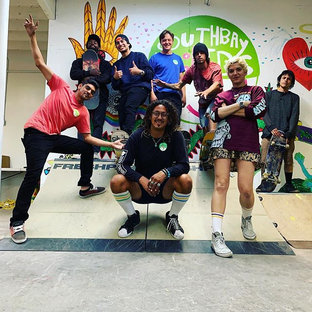 Southbay Sk8kids in da (Lawndale) house! 🛹 👍😊 Here's the team that is proud to make it all happen: Jason, Jesus, JJ, Mike, Chance, Chris , Sid and Adele! Come check us out at our new spot.
