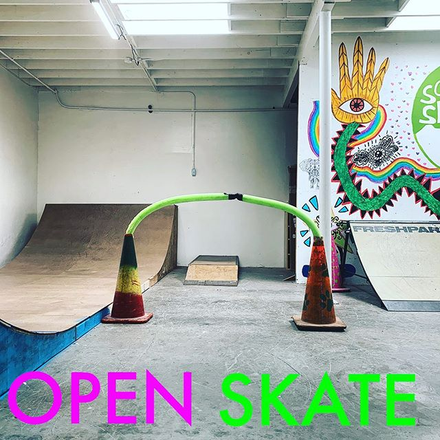 Join us this Friday 5/24 from 5.30-7.30 for our first OPEN SKATE! 🛹🙌🏻 Only 20 spots available, kids age 10 & under. $5 per session. Sign up link in bio.