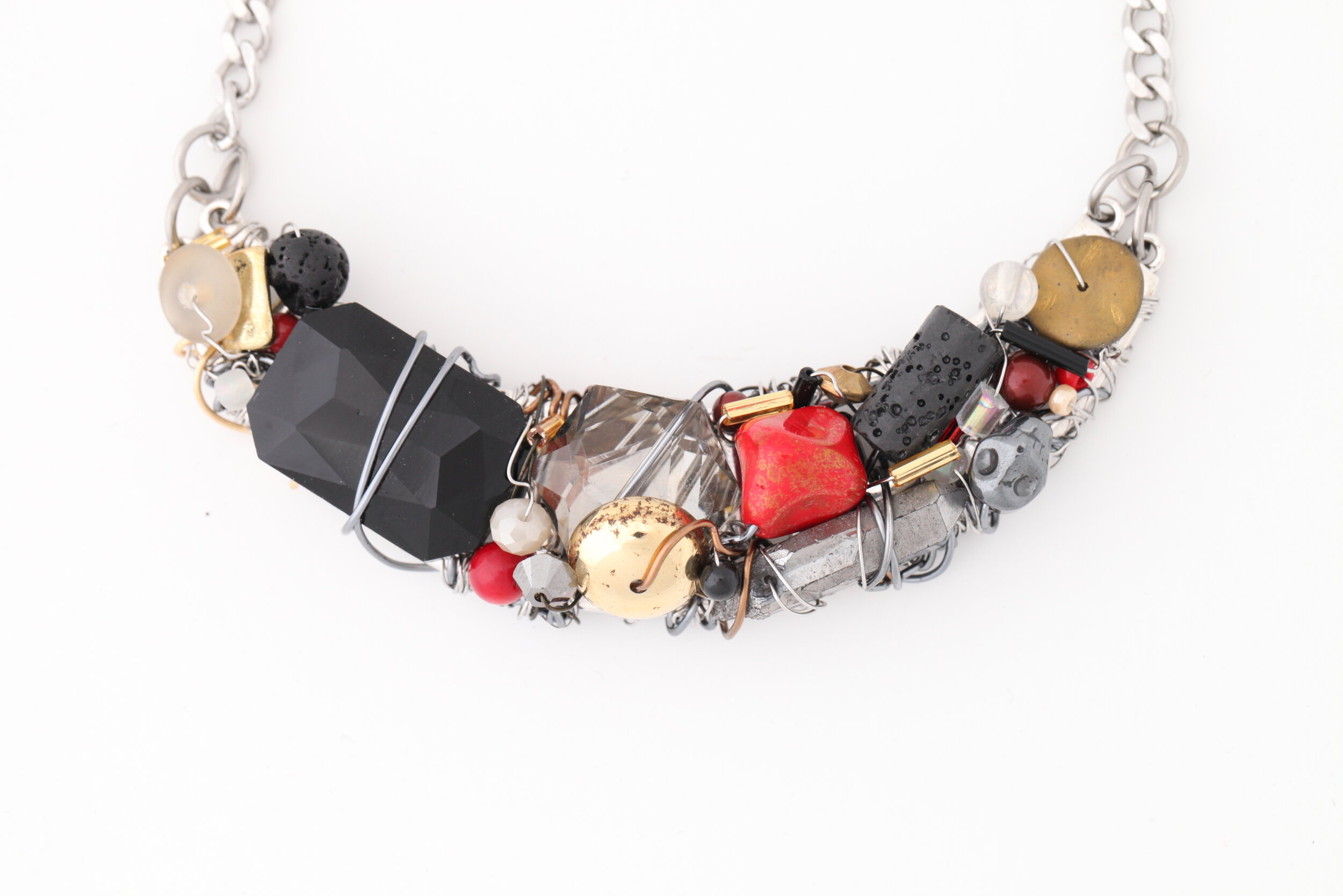 Crescent Necklaces and Chokers
