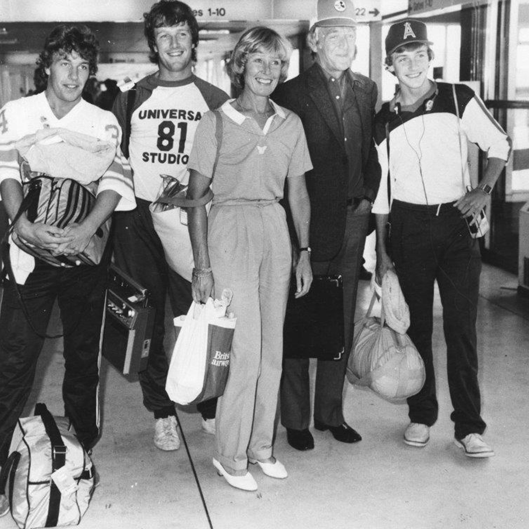 Michael Parkinson Standing with his family