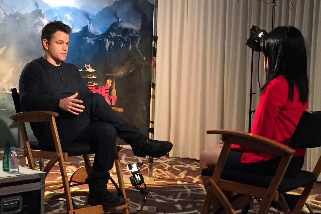 Interview: Matt Damon,  The Great Wall  (2017)   (Role: Interviewer, video editor)
