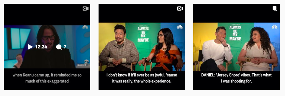 Traci conducted interviews ahead of Netflix's  Always Be My Maybe  release (2019) with Nahnatchka Khan, Randall Park, Ali Wong, Daniel Dae Kim, and Michelle Buteau. The videos were featured on NBCNews.com, as well as edited and shared  for NBC Asian America's social media accounts.   (Role: Interviewer, video editor)