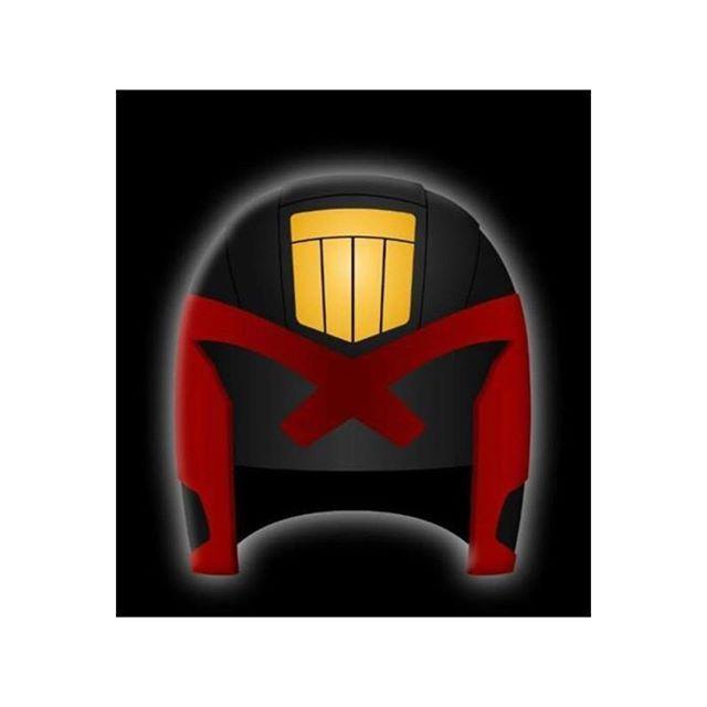 Dredd ————————————— #dredd #judgedredd #comic #comicon #johnwagner #carlosesquerra #megacityone #streetjudge #hero #villain #helmet #laydownthelaw