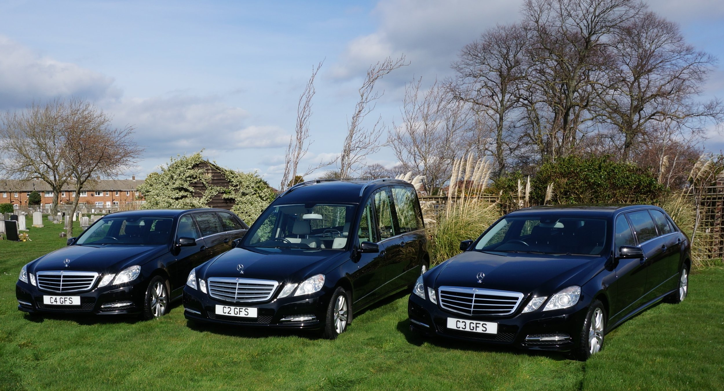 Transportation - We run two fleets of luxury Mercedes vehicles and now having the addition of a Vintage Hearse each limousine holds up to 7 people and we can arrange for any number you may require.Additionally, if you require the use of a horse drawn hearse and mourners carriages this can also be arranged.
