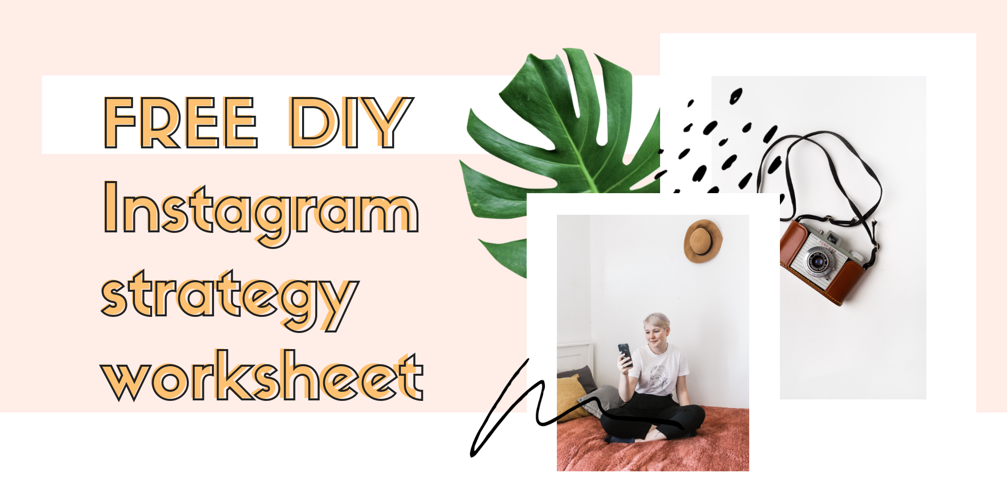 get monthly love from us - sign up for our monthly social media newsletter from Lizzie, the founder and snag a free DIY instagram strategy workbook!
