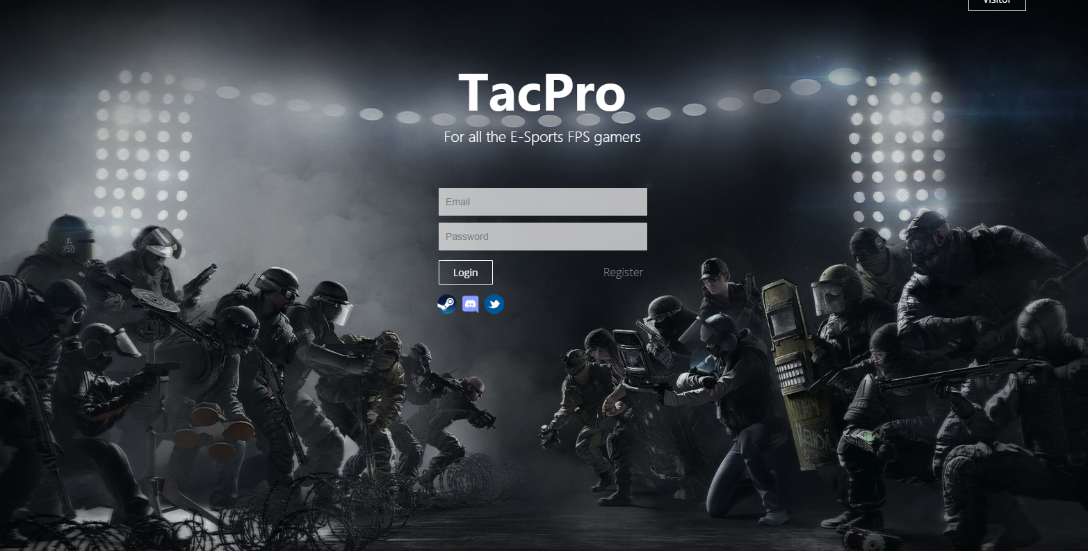 TACPRO - WEBSITE DESIGNED FOR FPS GAMERS