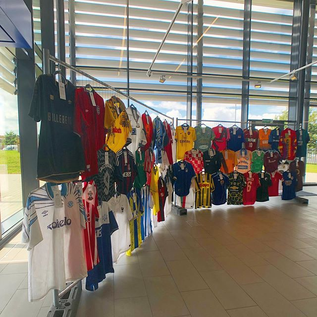 Our new Create exhibition is a collection of original football shirts, donated by colleagues across Linney. Some iconic, some personal and some infamous - all with their own story to tell. ⚽️ #creative #creativeagency #agencylife #designstudio #linney #football #digitalagency