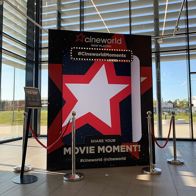 We created this life-sized 'toy box' for our friends @cineworld - Designed to encourage UGC, awareness of the brand and increase the brands social following. It's user generated content marketing at its best! The walk in toy box is currently on exhibit in our reception space - wannabe action figures are welcome to come get a selfie! #agency #designagency #creativeagency #designstudio #cinema #film #socialmedia #socialmediamarketing #digitalmarketing